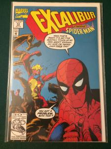 Excalibur #53 starring Spider-Man