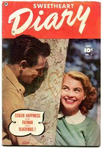 Sweetheart Diary #7 1951- Fawcett Golden Age Romance- FATMAN VG+