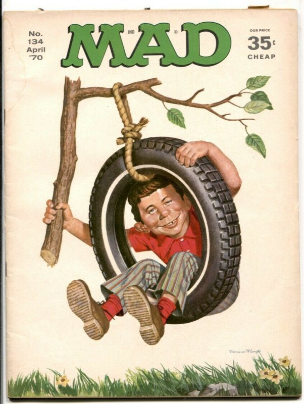 Mad Magazine #134 1970-Facts Of Life And Death VG