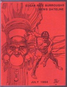 Edgar Rice Burroughs News Dateline #15 1984-Tarzan-ERB-pix-ads-info-Gil Kane-FN/