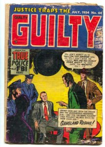 Justice Traps The Guilty #64 1954- Golden Age Crime FR