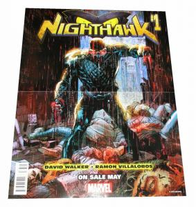 Nighthawk Thunderbolts Reversible Folded Promo Poster (10 x 13) - New!