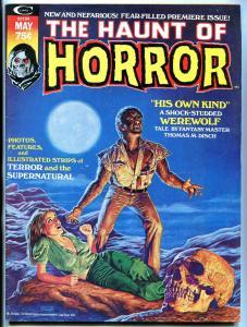 Haunt Of Horror #1 1974- Bob Larkin- Walt Simonson- Marvel Magazine FN-