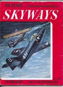 Skyways 5/1948-Henry-Phantom jet cover-Wayne FDavis-pix-info-Special Naval Av...