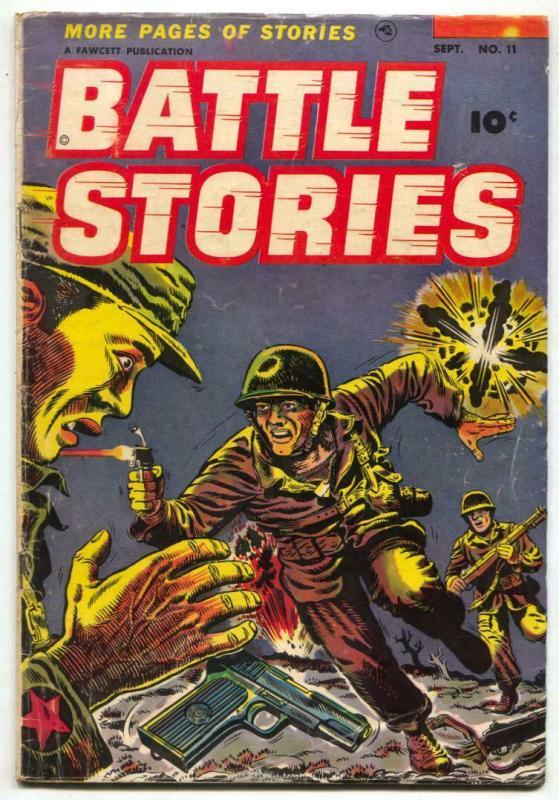 Battle Stories #11 1953-Fawcett War Comic VG