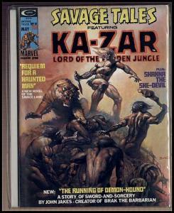 SAVAGE TALES (1971)10 Whelan; Adams! VF KAZAR BY HEATH COMICS BOOK