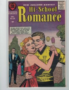 Hi-School Romance #58. Jack Sparling cover. Raw state of Very Fine/Near Mint