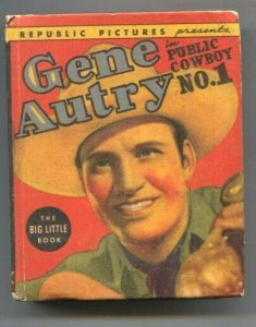 Gene Autry Public Cowboy #1 1938-Whitman-photo illustrated from film of same ...