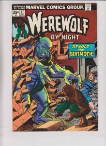 Werewolf By Night #17 VF behemoth - bronze age - perlin - w/marvel value stamp