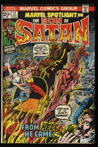 Marvel Spotlight #12 FN- 5.5 Comics 1st Son of Satan!