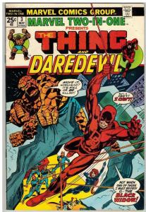 MARVEL TWO IN ONE 3 F-VF May 1974