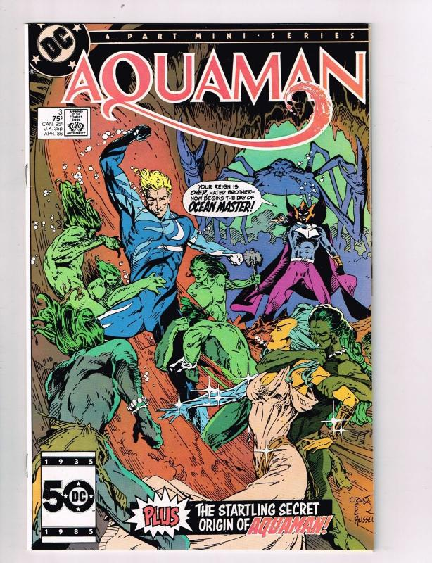 "Aquaman (1986 1st Limited Series) #3 DC Comic Book Silver Age origin recap"" HH2"