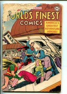 WORLD'S FINEST  #67-1953-DC-BATMAN-ROBIN-SUPERMAN-GREEN ARROW-pr/fr
