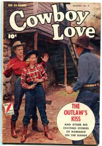 Cowboy Love #6 1949- Photo cover- Golden Age Western comic VG/F