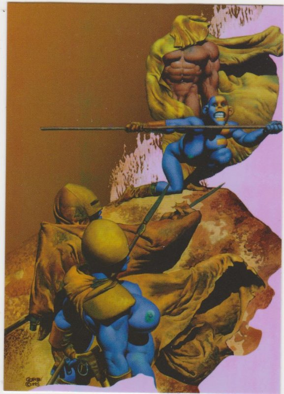 1997 Comic Images Artists Choice Omnichrome Blue Amazons