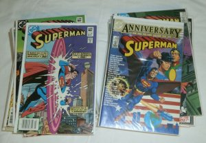 Superman V1 #381-411,423 ++ (no 404,410) Bates Swan Luthor, comic book lot of 33