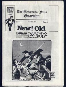 MENOMONEE FALLS GUARDIAN 6 VF-NM CAPTAIN EASY 1973 POPE