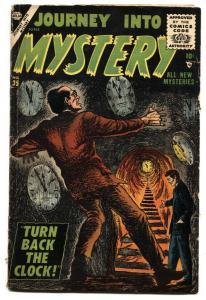 JOURNEY INTO MYSTERY #35 Jay Scott Pike-1956-ATLAS-HORROR-SCI-FI- VG