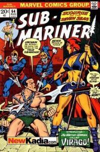 Sub-Mariner (1968 series) #64, VF (Stock photo)