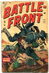 BATTLEFRONT #19 1954- Dunkirk- Cortez- Bob Powell Atlas War comic G