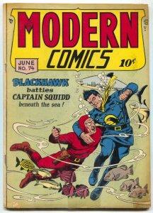 Modern Comics #74 1948- Blackhawk- Torchy - Shark cover VG-