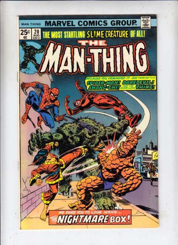 Man-Thing #20 (Sep-75) NM- High-Grade Man-Thing