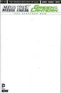 Star Trek Green Lantern Spectrum War 1 Blank Sketch Variant VF/NM