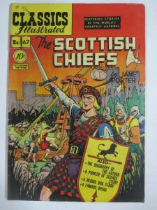 CLASSIC ILLUSTRATED #67 (G) THE SCOTTISH CHIEFS (1ST Edition, HRO=67) Jan 1950
