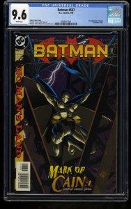 Batman #567 CGC NM+ 9.6 White Pages 1st Batgirl (Cassandra Cain)!