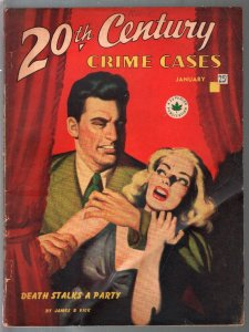 20th Century Crime Cases 1/1947-strangulation-terror-mystery-Canadian-VG