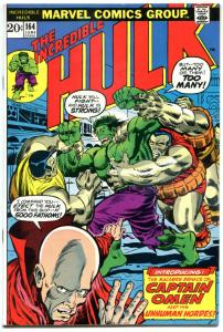 HULK #164, VF+, Bruce Banner, 1968, Incredible, 1st  Captain Omen, Armbuster