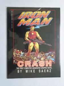 Iron Man Crash GN #1, NM (1988) The First Computer Generated Graphic Novel!