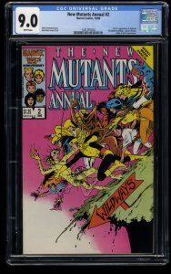 New Mutants Annual #2 CGC VF/NM 9.0 White Pages 1st Psylocke!