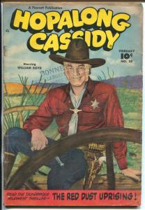 Hopalong Cassidy #28 1949-William S Boyd colorized photo cover-G