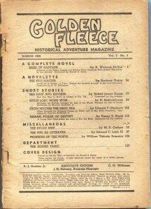 GOLDEN FLEECE--MAR 1939--SEABURY QUINN-WILLIAM TIBBETTS BANNON--PULP FICTION