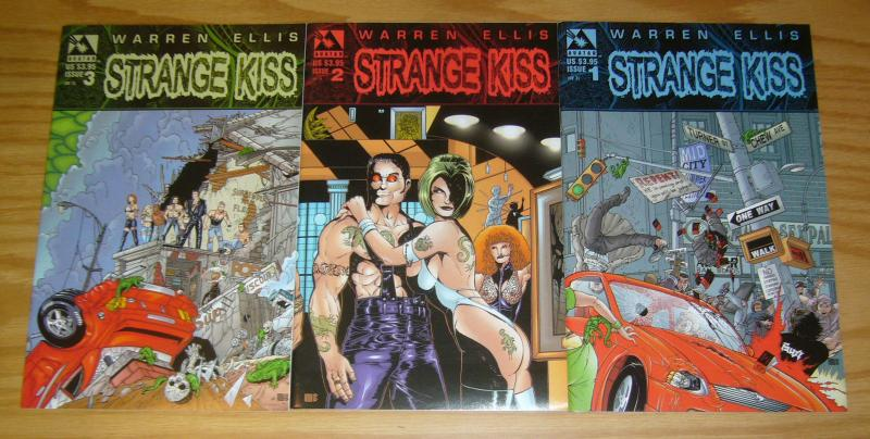 Warren Ellis' Strange Kiss #1-3 VF/NM complete series - all wrap variants set 2