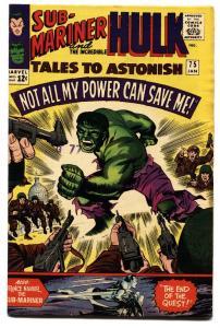 TALES TO ASTONISH #77-HULK/SUBBY-nice copy-MARVEL-SILVER-AGE vf-