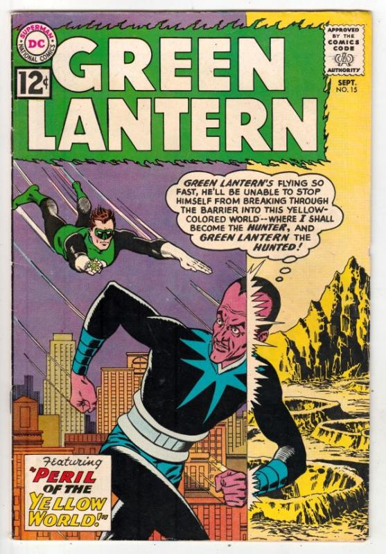 Green Lantern #15 (Sep-62) FN/VF+ High-Grade Green Lantern