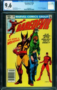 DAREDEVIL #196 CGC 9.6 Newsstand-MARVEL COMICS- WOLVERINE-1996380001