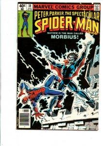 Peter Parker the Spectacular Spider-man #38 newsstand - Moon Knight -1980 - Fine