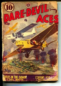 Dare-Devil Aces-Pulp-9/1932-Curtis Mitchell-Larry Jones-cover by Frederick Black