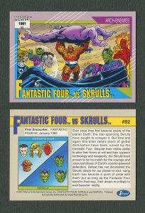 1991 Marvel Comics II  Card  #92 ( Fantastic Four vs Skrulls )  MINT