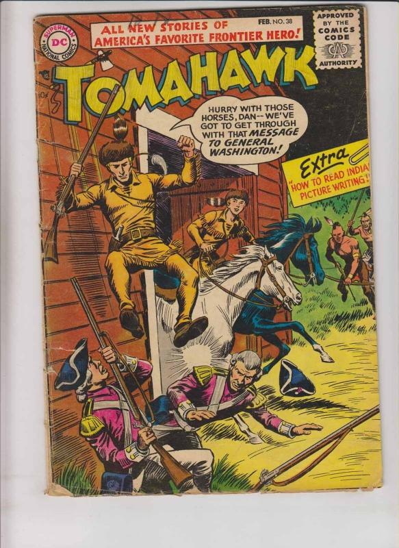 Tomahawk #38 GD/VG february 1956 - silver age dc comics - western frontier hero