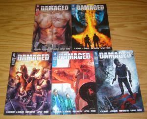 Sam Worthington's Damaged #1-5 VF/NM complete series - david lapham