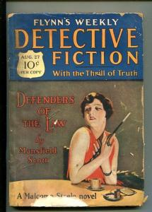 FLYNN'S WEEKLY DETECTIVE FICTION-AUG 27 1927-PULP-CRIME-MYSTERY-SCOTT-good