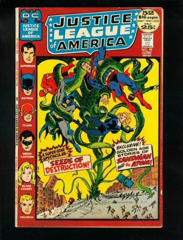 JUSTICE LEAGUE OF AMERICA #99 1972-sandman-atom VG