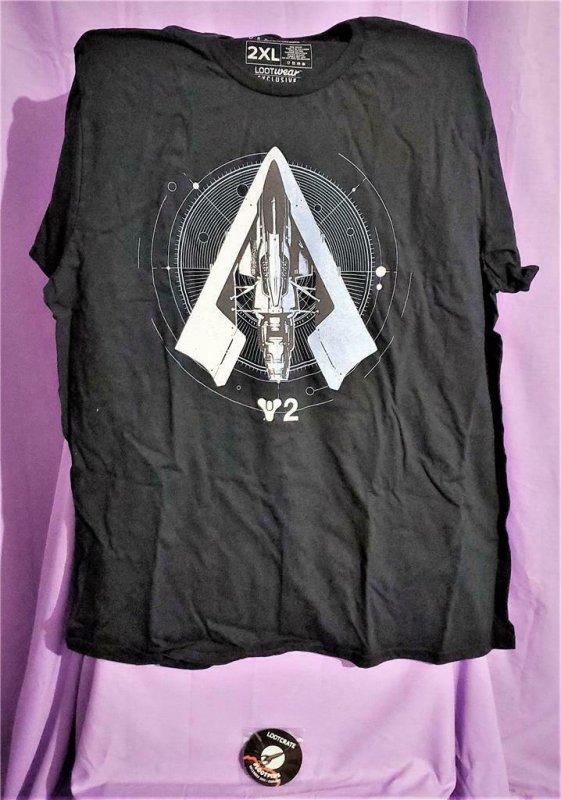 Loot Crate Exclusive DESTINY 2 WANDERWING T-Shirt (2XL) (Loot Wear)!