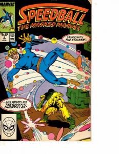 Lot Of 2 Marvel Comic Books Speedball #2 and What If #1  BH52