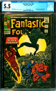 Fantastic Four #52 CGC Graded 5.5 1st appearance of the Black Panther (T.Chal...