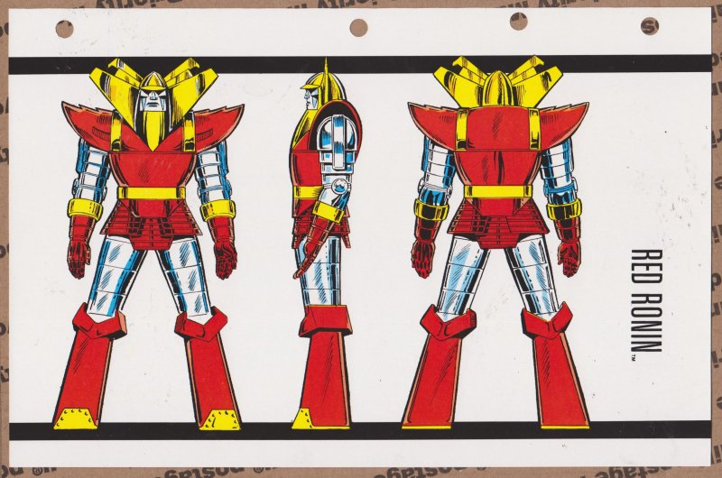 Official Handbook of the Marvel Universe Sheet- Red Ronin